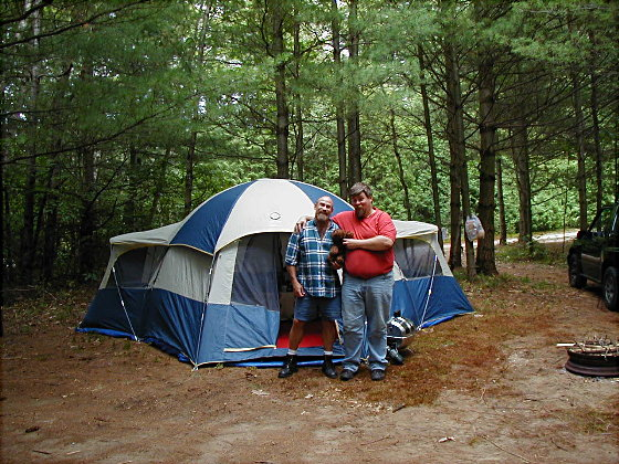 Us camping at Rainbow Woods